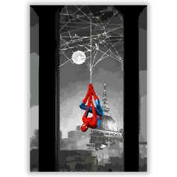 Spiderman appeso
